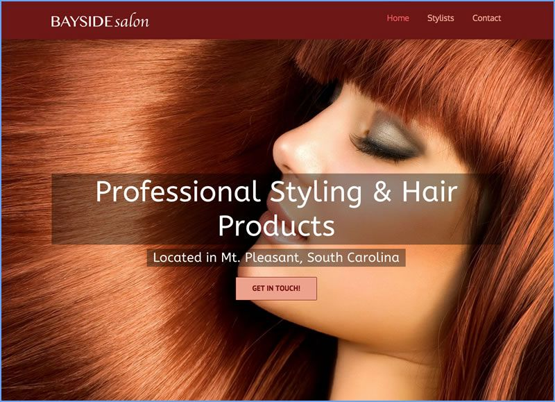 Charleston Web Design for Bayside Salon by DigitalCoast Marketing