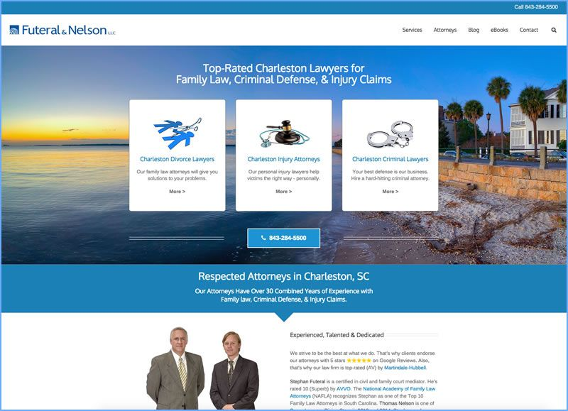 Charleston Web Design for Futeral & Nelson LLC by DigitalCoast Marketing