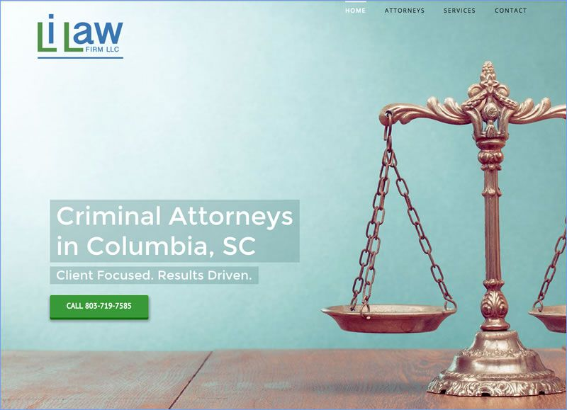 Charleston Web Design for Li Law Firm by DigitalCoast Marketing