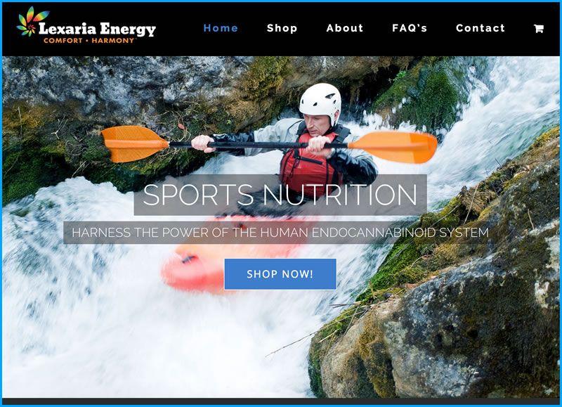 Charleston Web Design for Lexaria by DigitalCoast Marketing