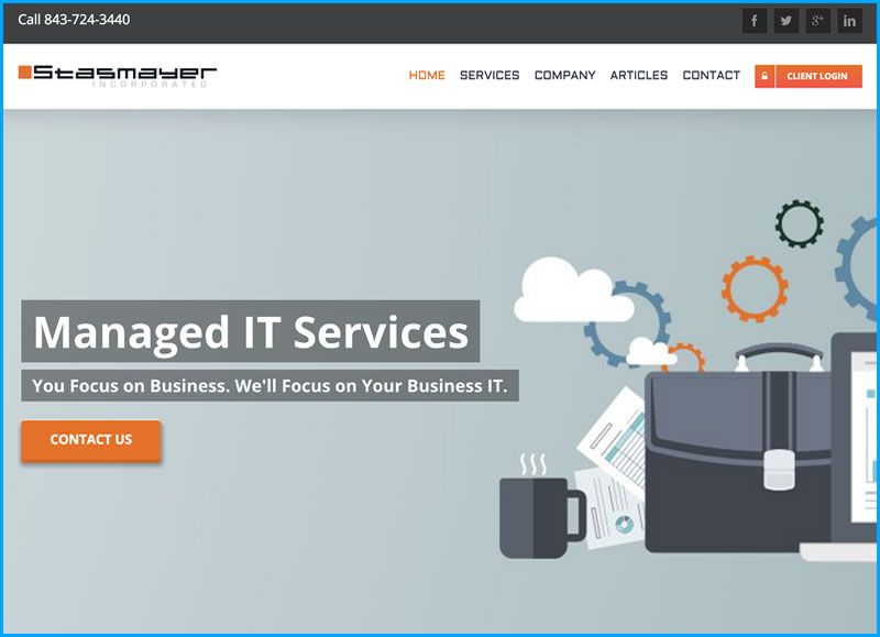 Charleston Web Design for Stasmayer Inc by DigitalCoast Marketing