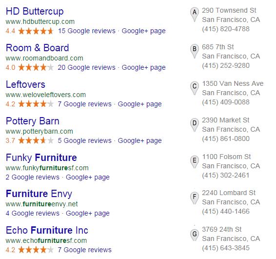 Google's 7-Pack