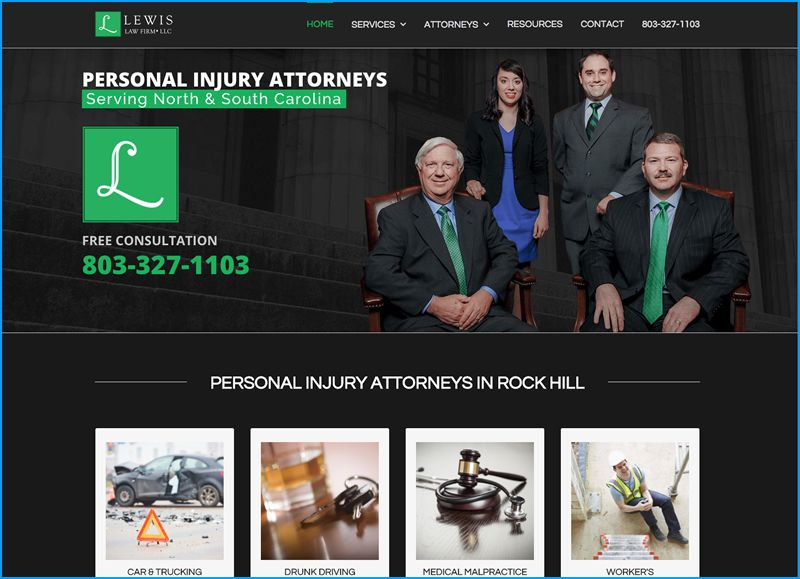 Website Design for Lewis Law Fir