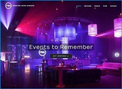 Website Design for Production Design Associates
