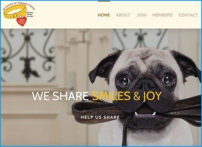 Website Design for Alliance of Therapy Dogs Inc.