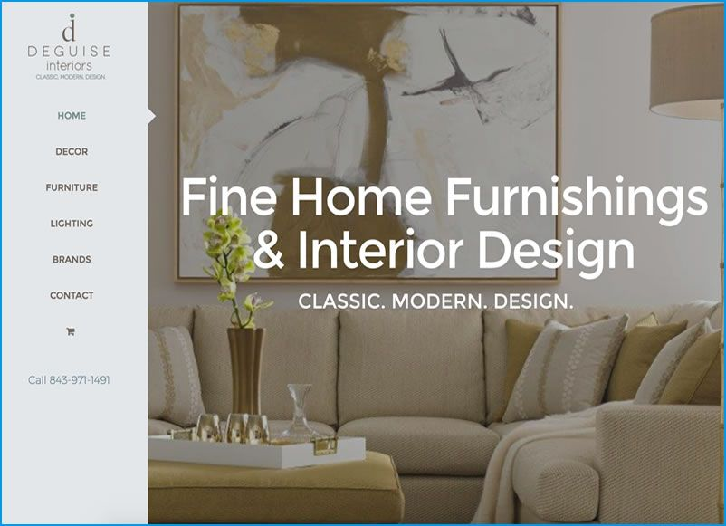Website Design for deGuise Interiors