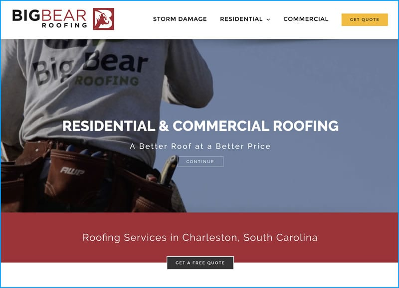 Website Design for Big Bear Roofing
