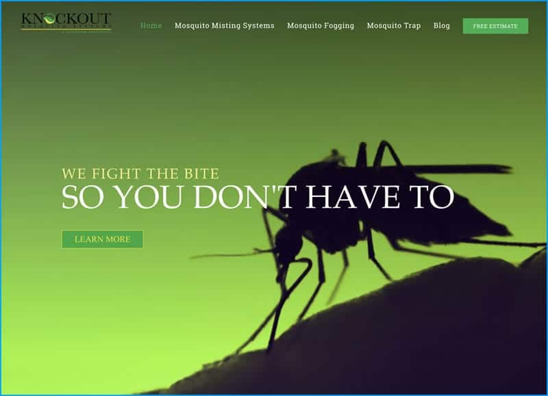 Website Design for Knockout Mosquito