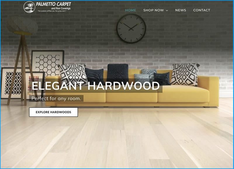 Website Design for Palmetto Carpet