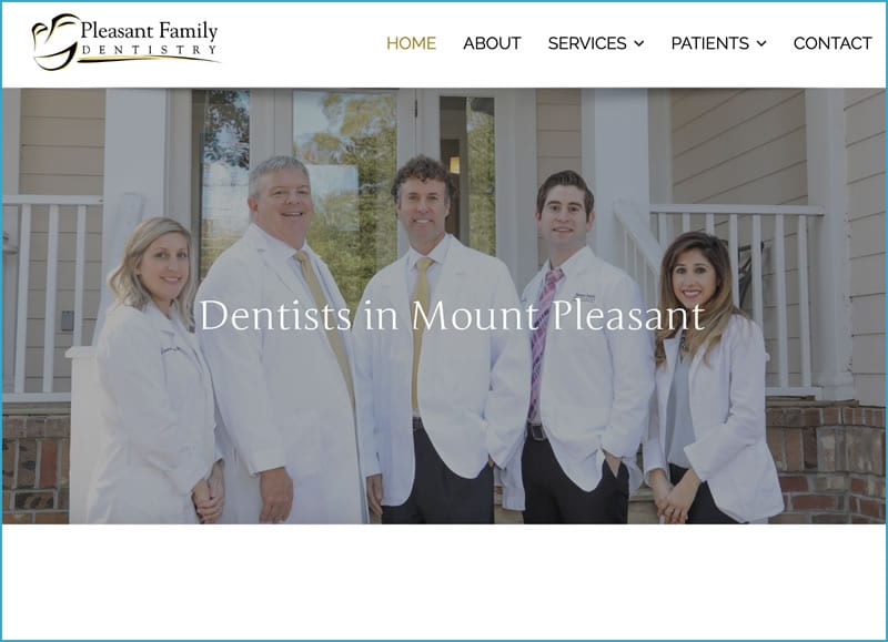 Web Design for Mt. Pleasant Family Dentistry